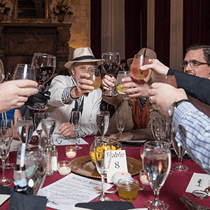 San Diego Murder Mystery guests raise glasses